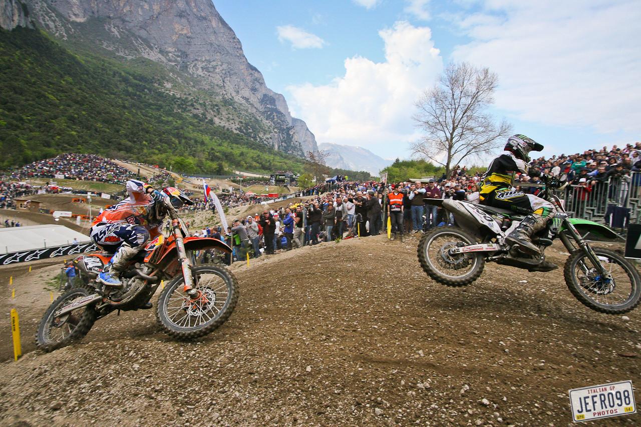 Jeffrey Herlings and Arnaud Tonus - Photo Blast MXGP of Trentino - Motocross Pictures - Vital MX