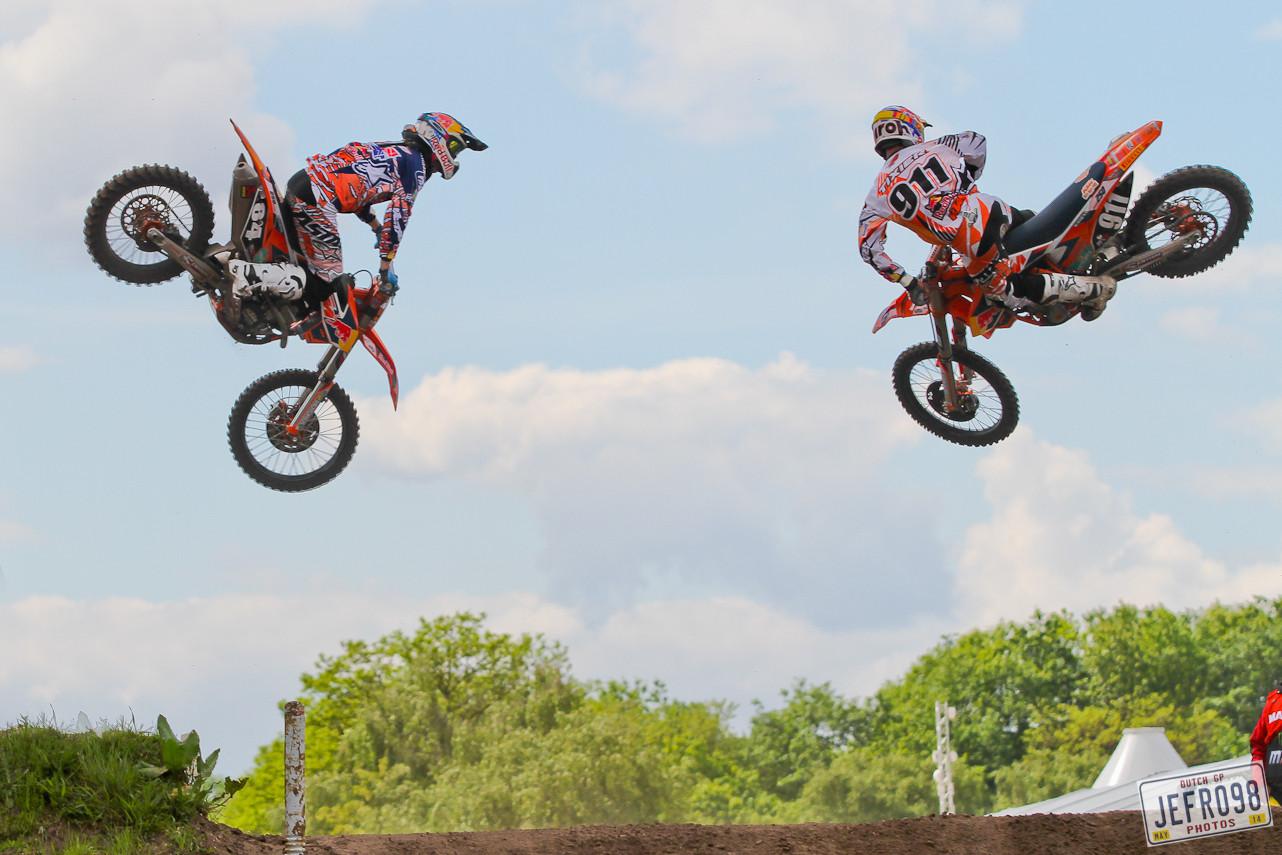 Jeffrey Herlings & Jordi Tixier - Photo Blast: MXGP of Valkenswaard - Motocross Pictures - Vital MX