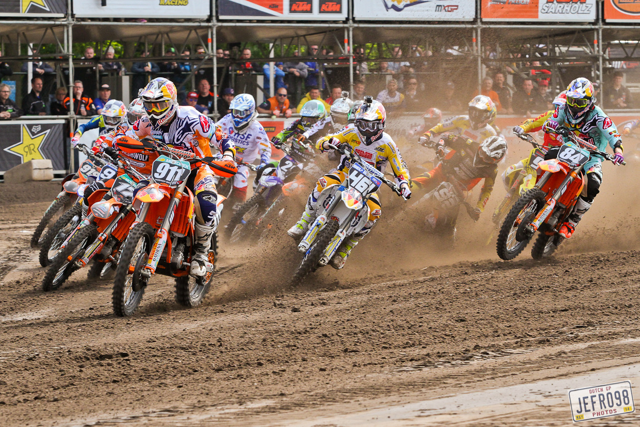 MX2 start - Photo Blast: MXGP of Valkenswaard - Motocross Pictures - Vital MX
