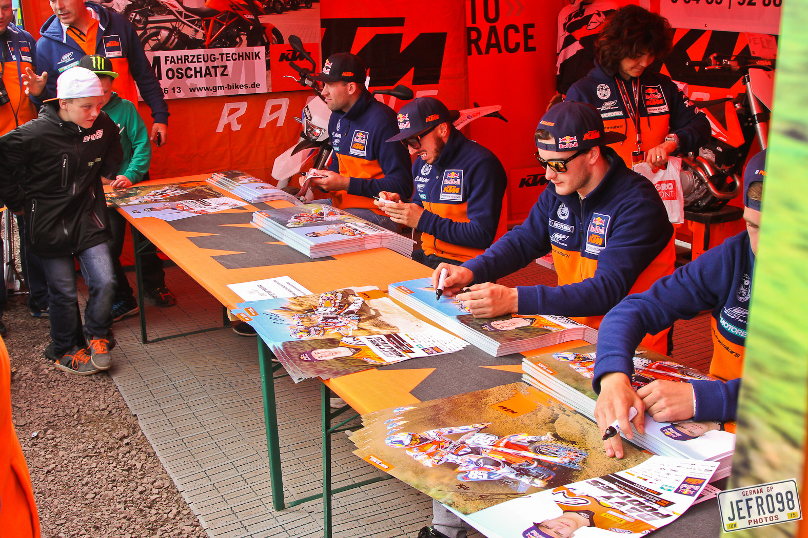 KTM signing session - Photo Blast: MXGP of Germany - Motocross Pictures - Vital MX