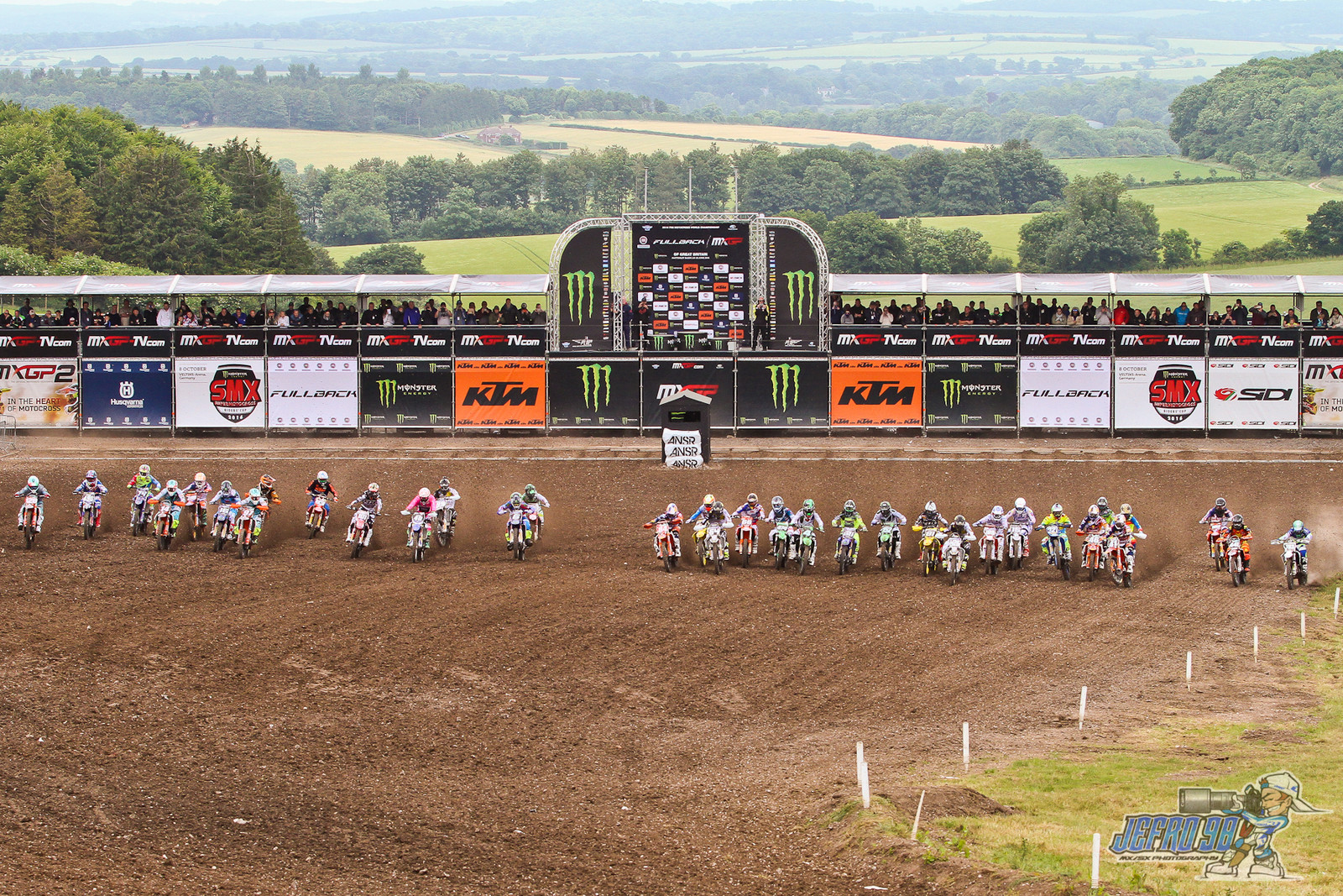 MX2 start - Photo Gallery: MXGP of Great Britain - Motocross Pictures - Vital MX