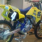 1990 Suzuki RM125 Guy Cooper Tribute - actual works Suzuki RA parts
