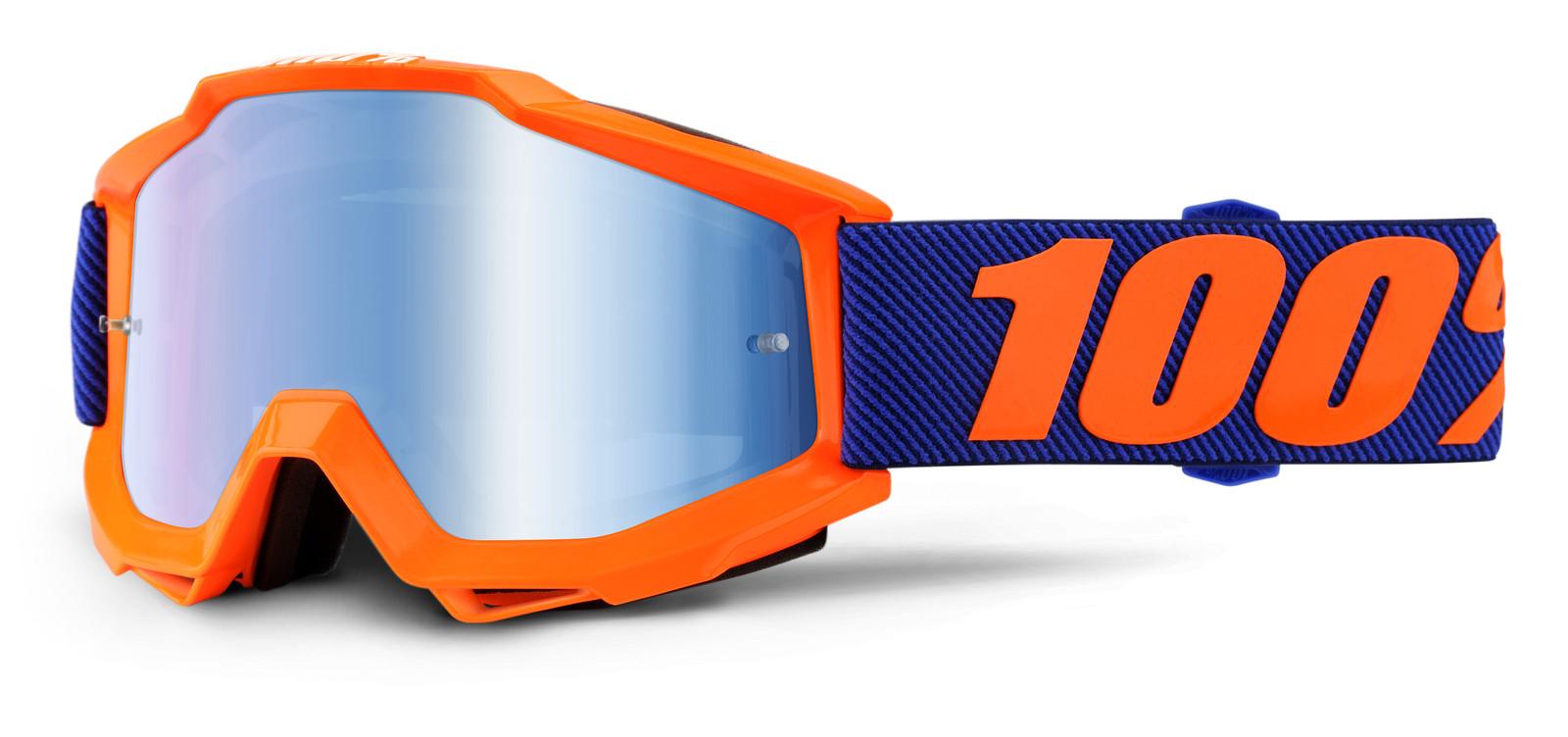 Accuri Origami Goggle - Mirror Blue Lens - 100percent - Motocross Pictures - Vital MX
