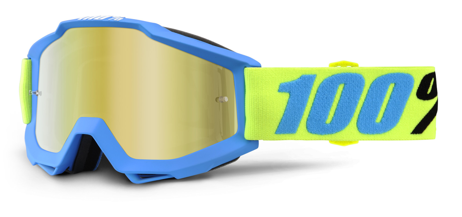 Accuri Belize Goggle - Mirror Gold Lens - 100percent - Motocross Pictures - Vital MX