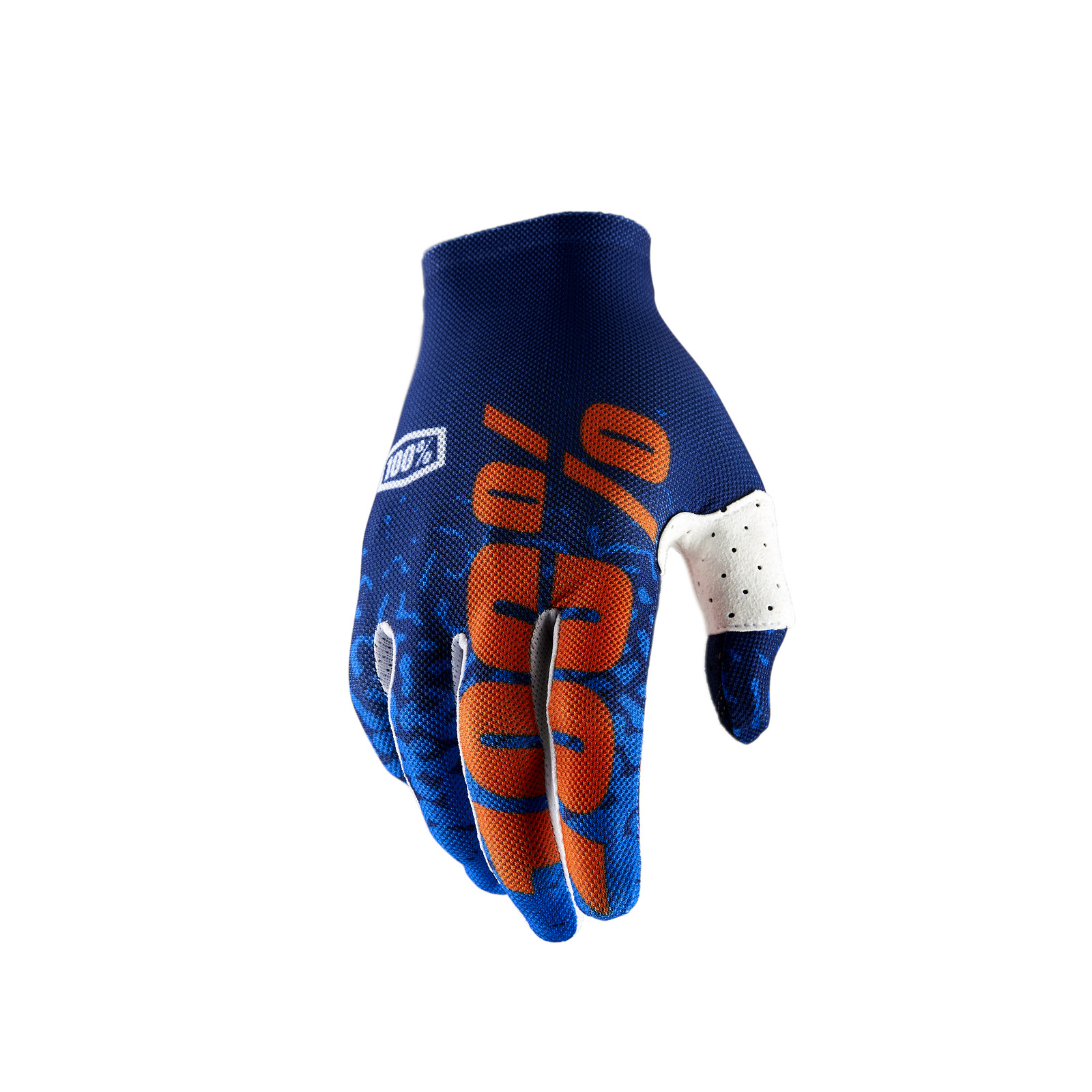 Celium 2 Glove - Flash Navy / Orage - 100percent - Motocross Pictures - Vital MX