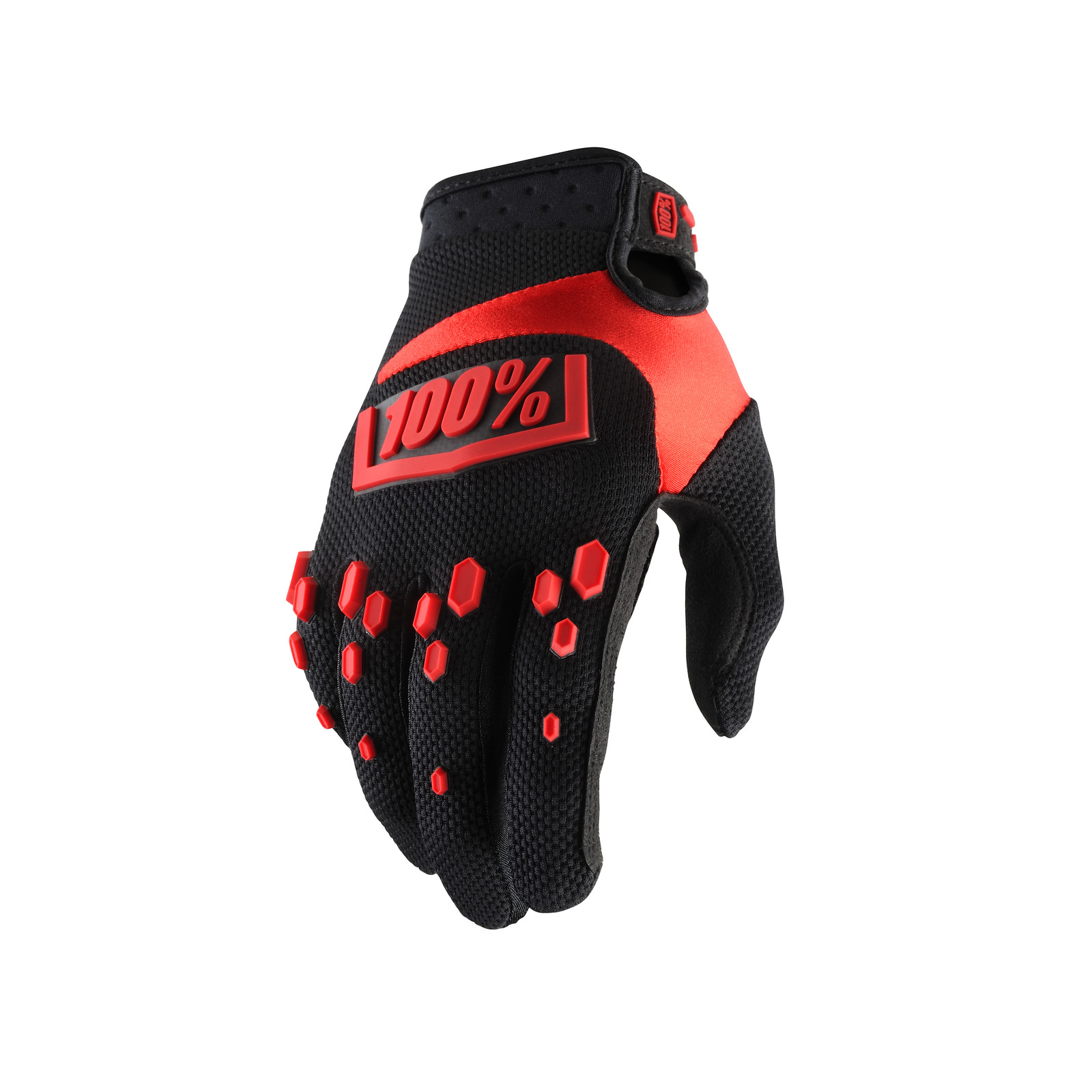 Airmatic Glove - Black / Red - 100percent - Motocross Pictures - Vital MX