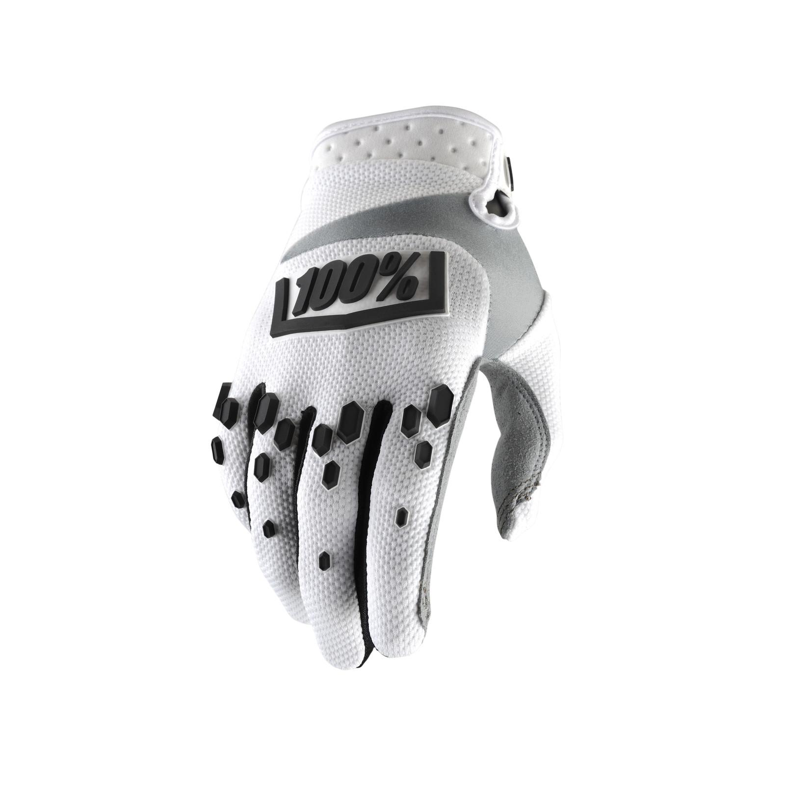 Airmatic Glove - White - 100percent - Motocross Pictures - Vital MX