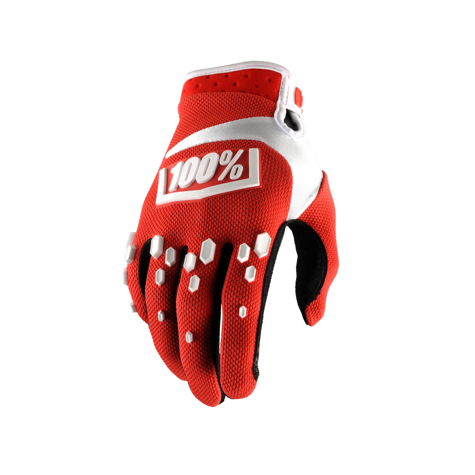 Airmatic Glove - Red / White - 100percent - Motocross Pictures - Vital MX
