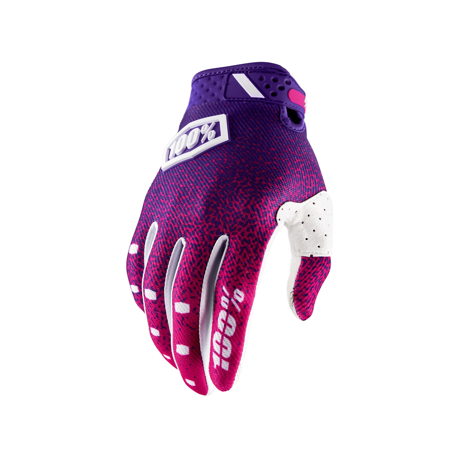 Ridefit Glove - Pink / Purple - 100percent - Motocross Pictures - Vital MX