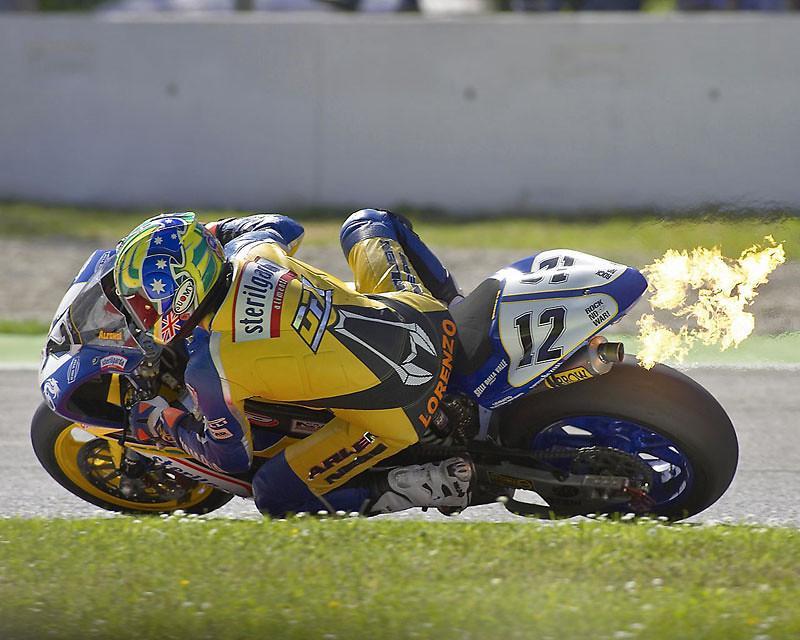 SBK flames - piambro - Motocross Pictures - Vital MX