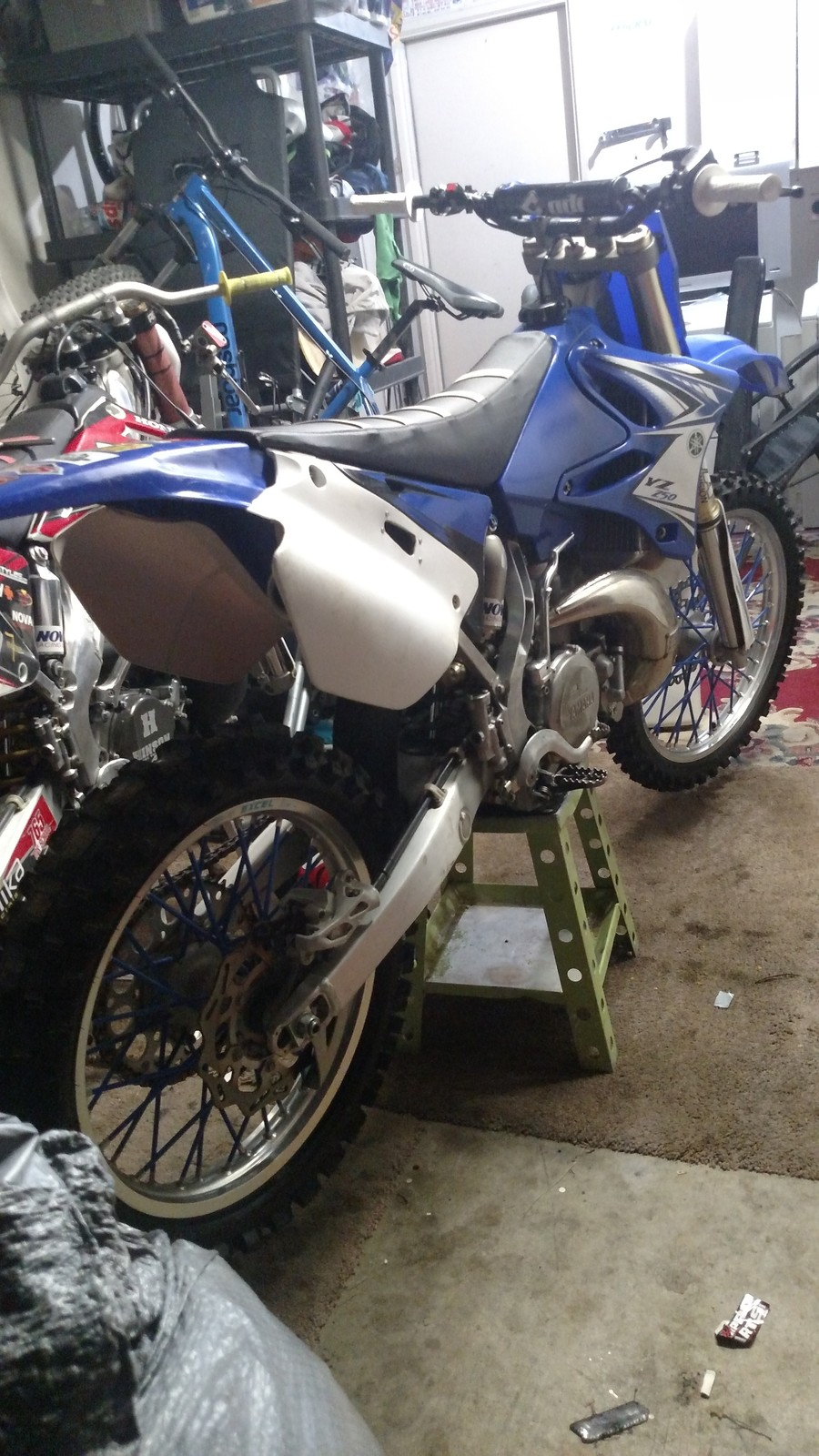 This bike has been in development for years and after finally getting it close to amazing, my mechanic let me buy it dirt cheap. I know it looks like crap now but I'll fix that, we got so much air to flow to this motor it's running a 218 main jet, stock is 175-78. Hopefully the build with cosmetic stuff comes along good and if you see me just ask I'll probably let let u ride it.