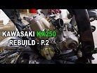 Dirt bike Kawasaki KX250 Rebuild