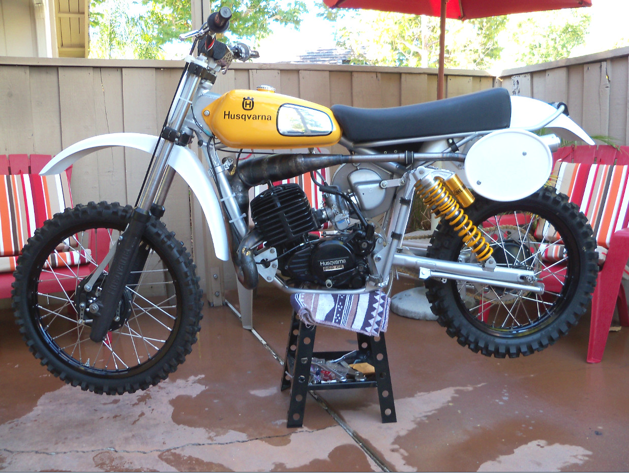 I used the CR125 paint scheme for my 250 instead of the stock red scheme.