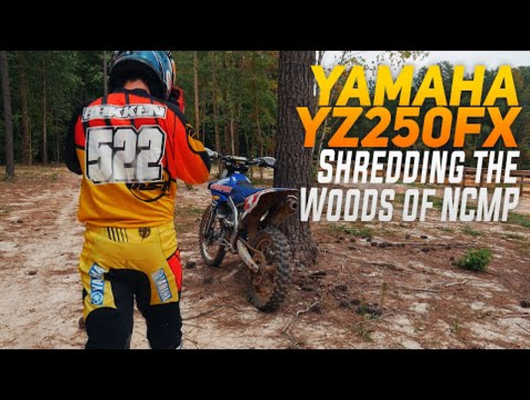 RAW Yamaha YZ250FX Woods Riding in NC