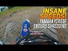 YAMAHA YZ450F Goes Wide Open on Enduro Course!