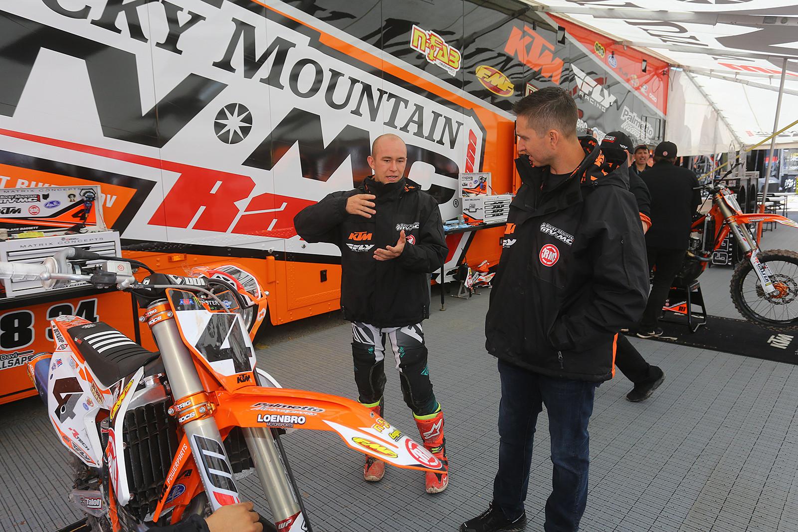 Blake Baggett and Michael Byrne - Vital MX Pit Bits: Salt Lake City - Motocross Pictures - Vital MX