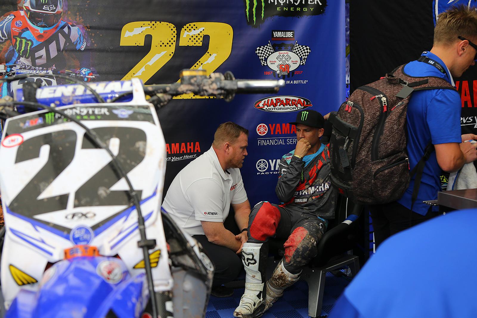 Dan Truman and Chad Reed - Vital MX Pit Bits: Salt Lake City - Motocross Pictures - Vital MX