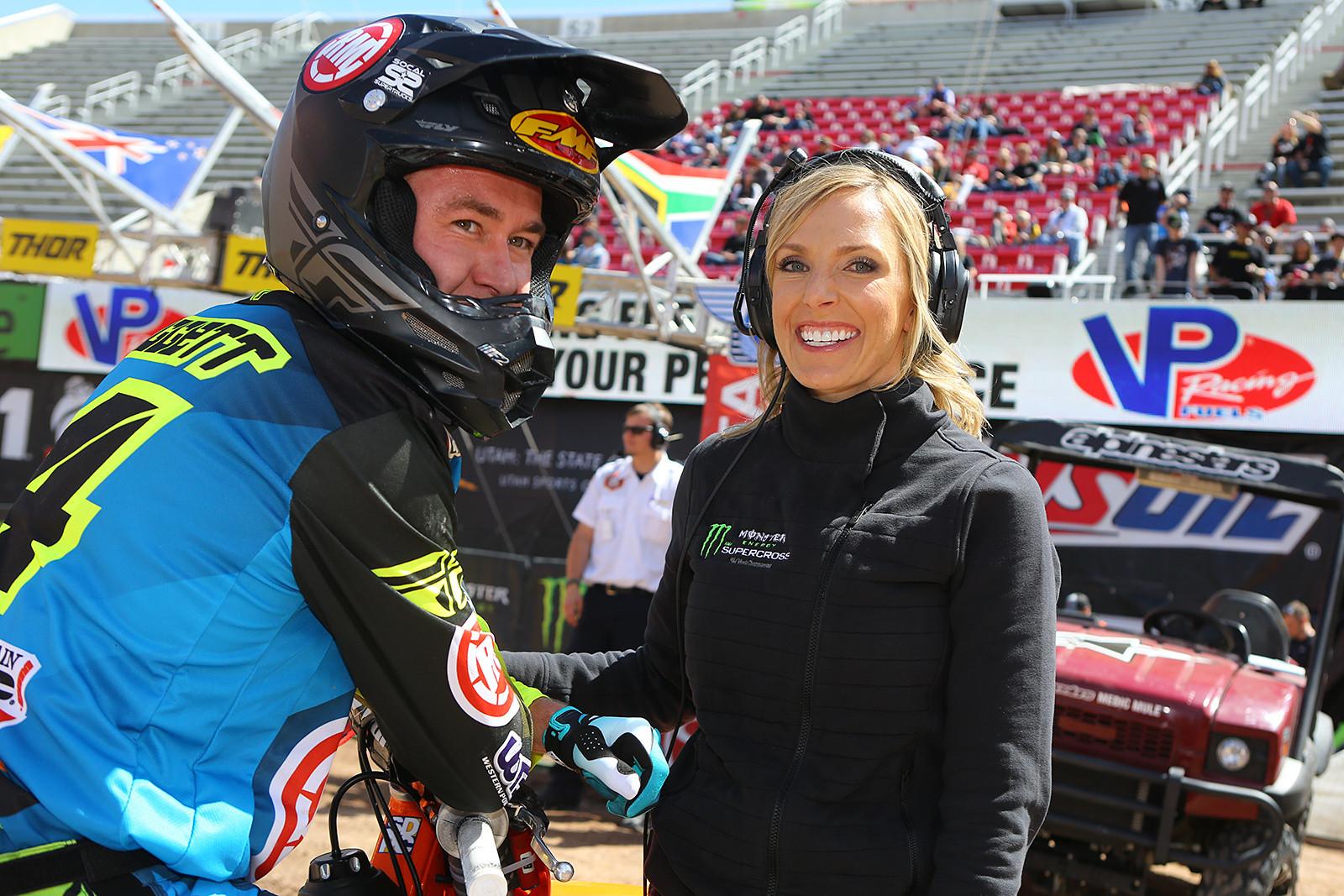 Blake Baggett and Ashley Phillips - Vital MX Pit Bits: Salt Lake City - Motocross Pictures - Vital MX