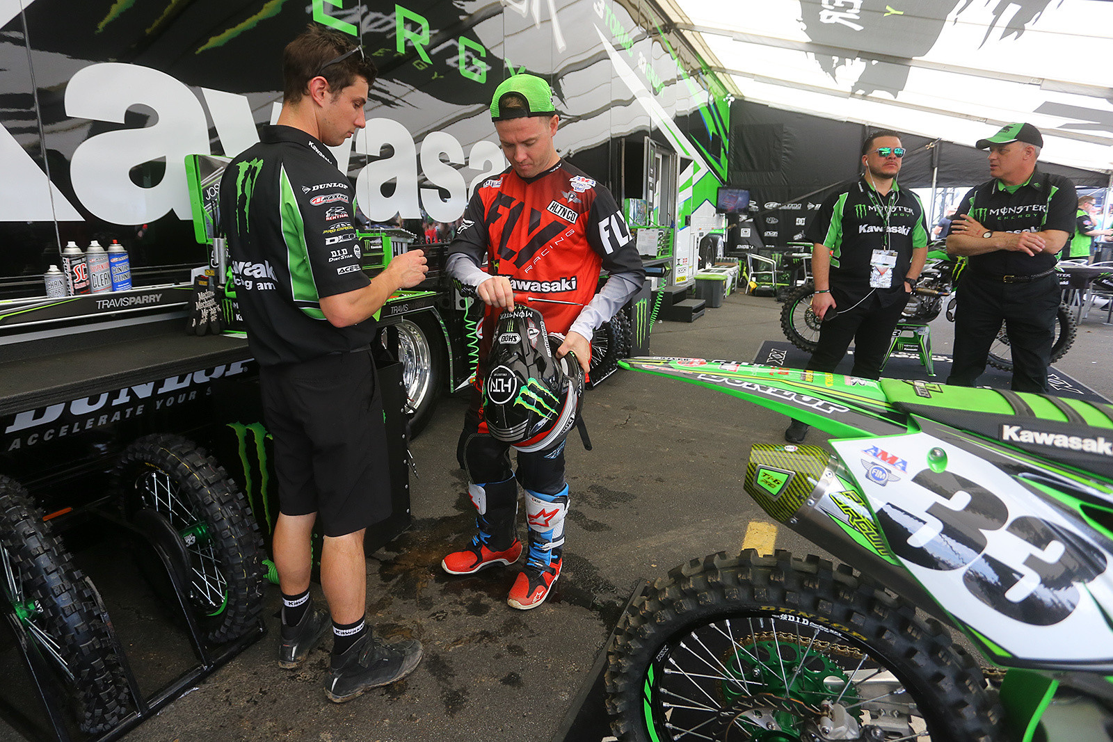 Travis Parry and Josh Grant - Vital MX Pit Bits: East Rutherford - Motocross Pictures - Vital MX