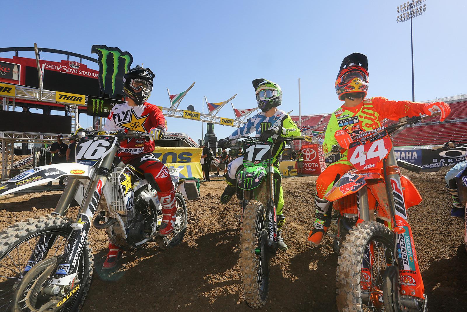 Zach Osborne, Joey Savatgy, and Jordon Smith - Vital MX Pit Bits: Las Vegas - Motocross Pictures - Vital MX