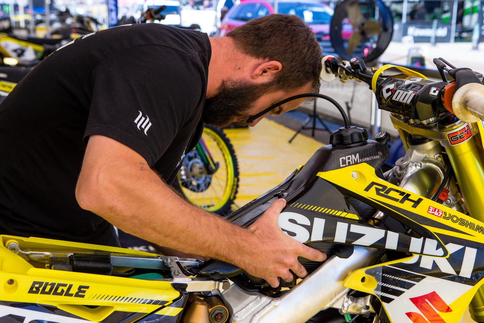 RCH/Yoshimura/Suzuki Factory Racing - Vital MX Pit Bits: Hangtown - Motocross Pictures - Vital MX