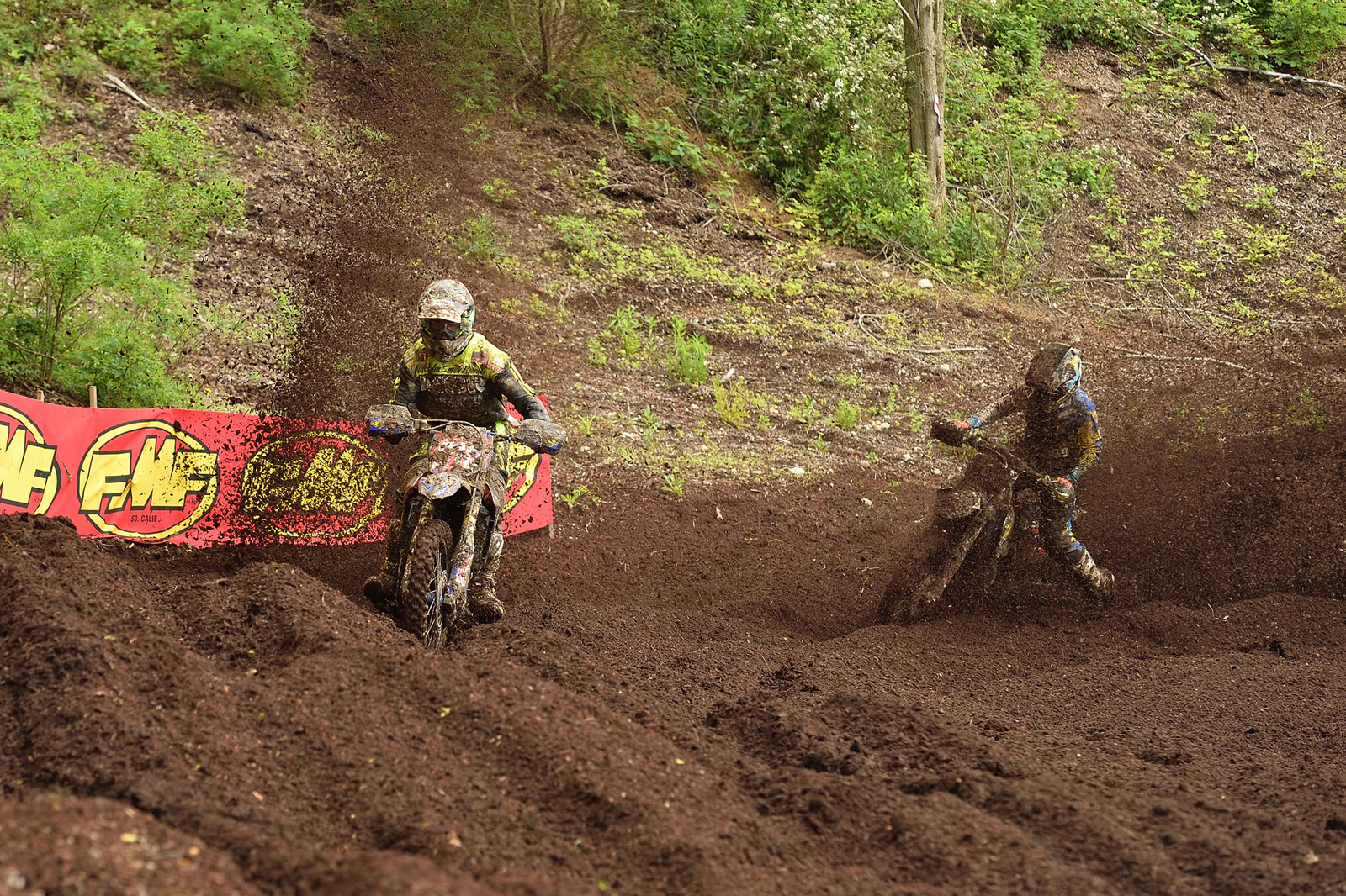 Ricky Russell leading Thad Duvall - X-Factor GNCC - Motocross Pictures - Vital MX