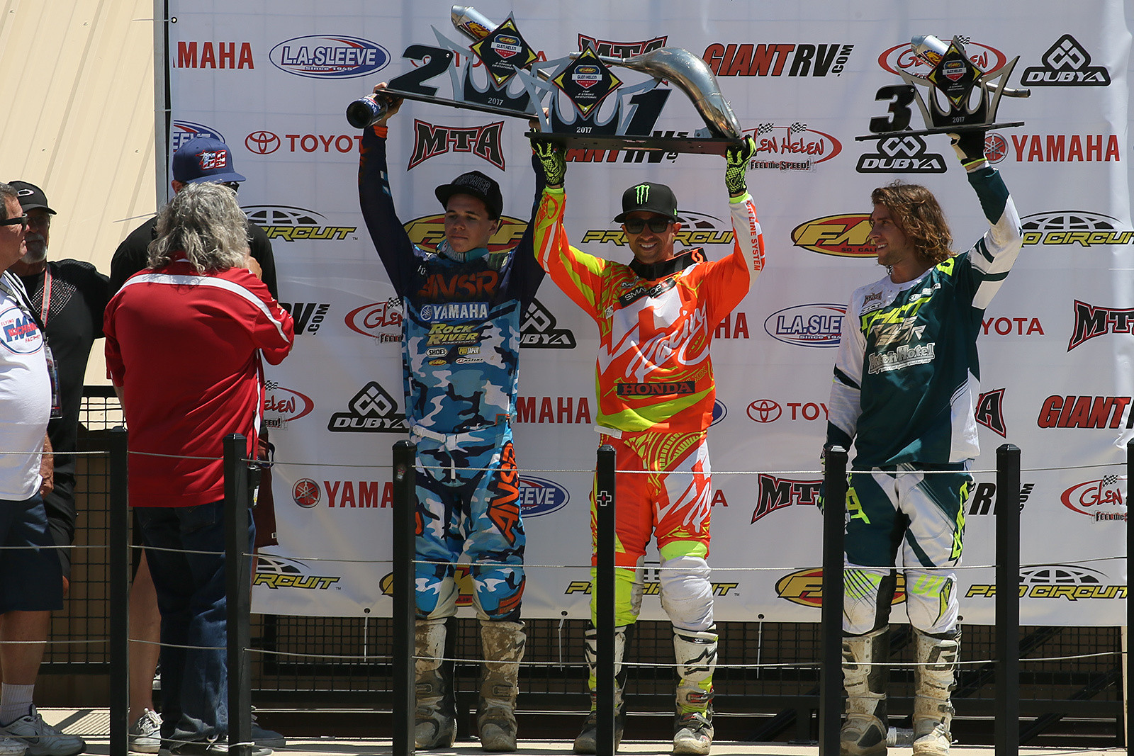 Two-Stroke podium - Vital MX Pit Bits: Glen Helen - Motocross Pictures - Vital MX