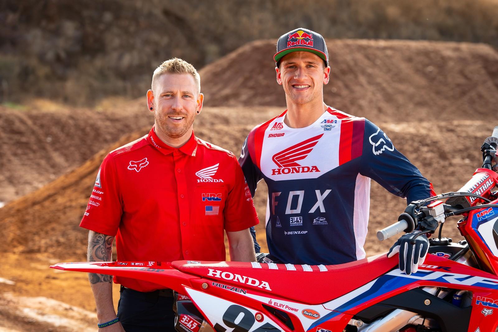 Jordan Troxell and Ken Roczen - Team Honda HRC 2020 - Motocross Pictures - Vital MX