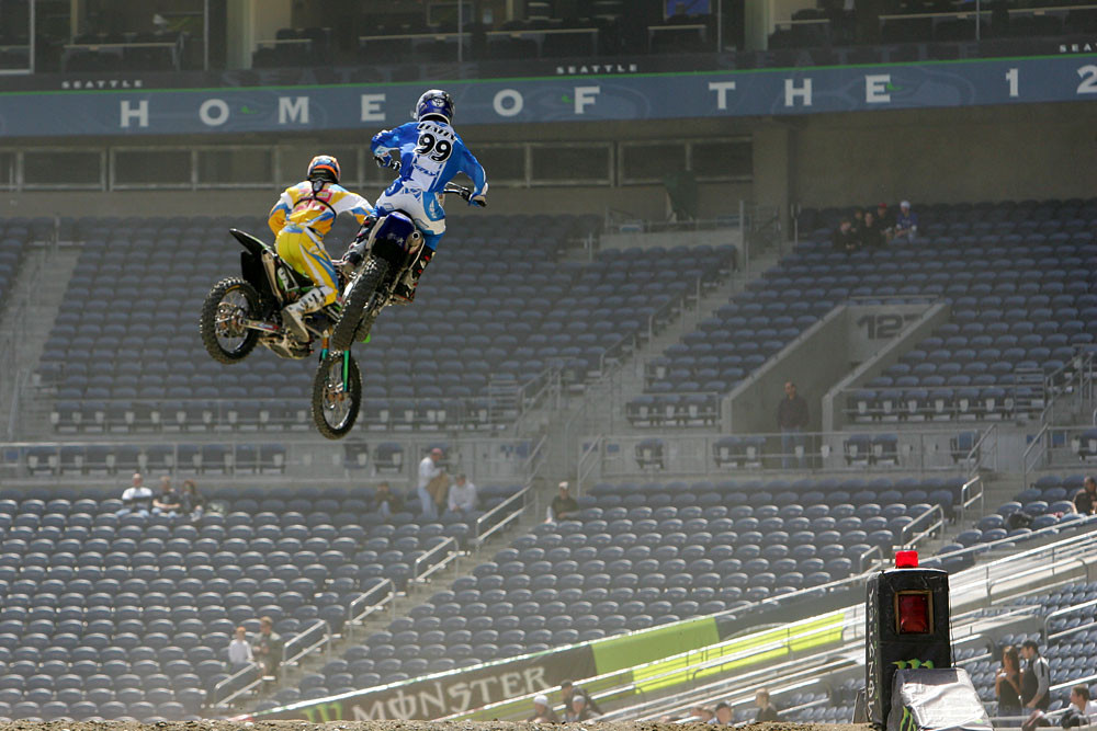 Tommy Hahn and Wil Hahn - Vital MX Pit Bits: Seattle 2008 - Motocross Pictures - Vital MX