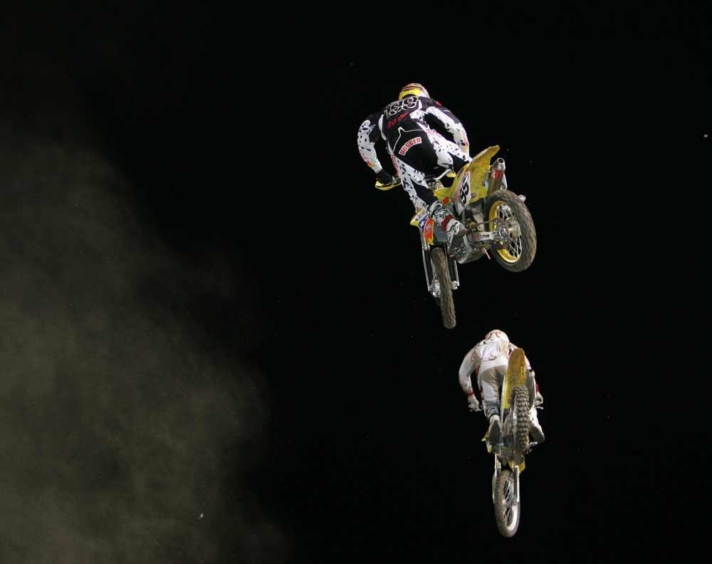 Travis Pastrana and Joe Oehlhof - 2006 Jeremy McGrath Invitational - Saturday Night - Motocross Pictures - Vital MX