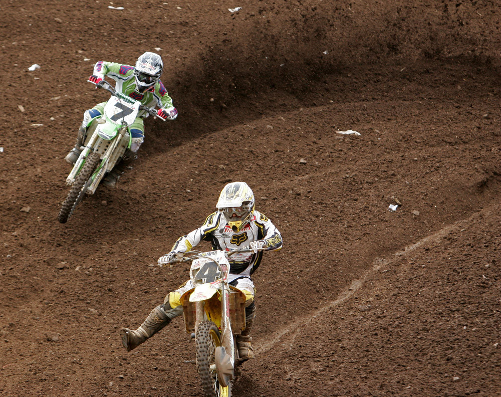 James Stewart and Ricky Carmichael - AMA Washougal '06 - Motocross Pictures - Vital MX