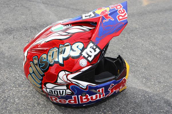AGV AX-8 helmet - Pit Bits: Anaheim 1 - Motocross Pictures