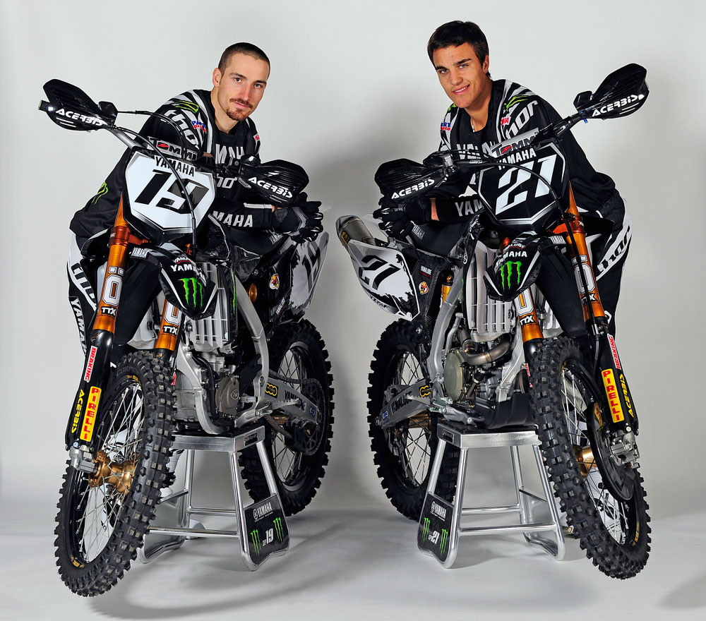 David Phillipaerts and Gautier Paulin - 2010 Yamaha Monster Energy Motocross Teams - Motocross Pictures - Vital MX