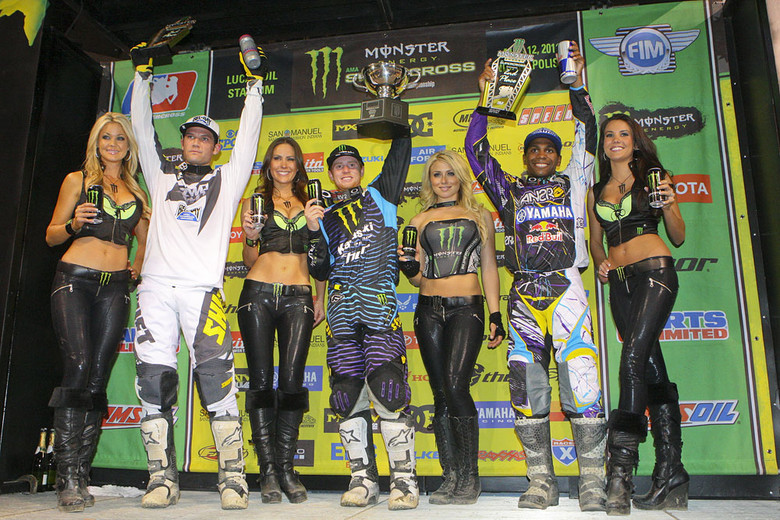 Ryan Villopoto (1st), James Stewart (2nd), and Chad Reed (3rd)