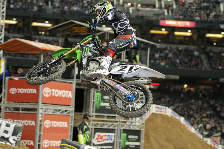 Jake Weimer scored his first podium in the 450 class, finishing in second spot.