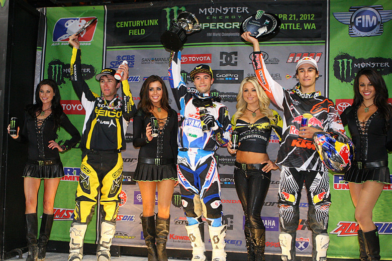 Ryan Sipes grabbed the win. Marvin Musquin (Red Bull/KTM) came through to take the second spot. Eli Tomac was third. He had difficulty late in the race with his shifter (it was bent in the contact with Wilson), and he was working his clutch pretty hard.