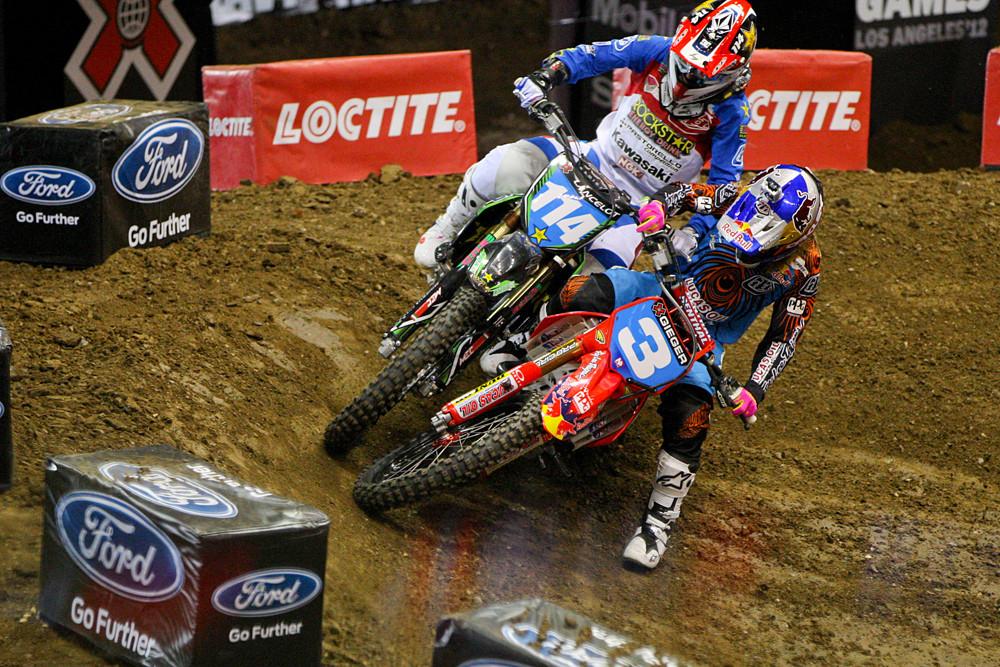 Livia Lancelot and Tarah Gieger - X Games 2012: Women's Moto X Racing - Motocross Pictures - Vital MX