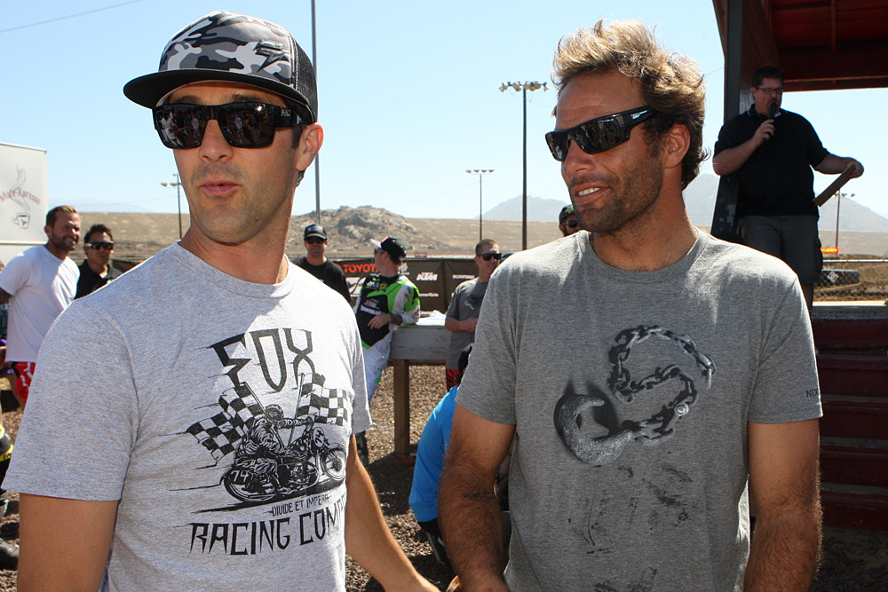 Jeff Emig and Nathan Fletcher - 2012 Toyota Surfercross: Day 1 - Motocross Pictures - Vital MX