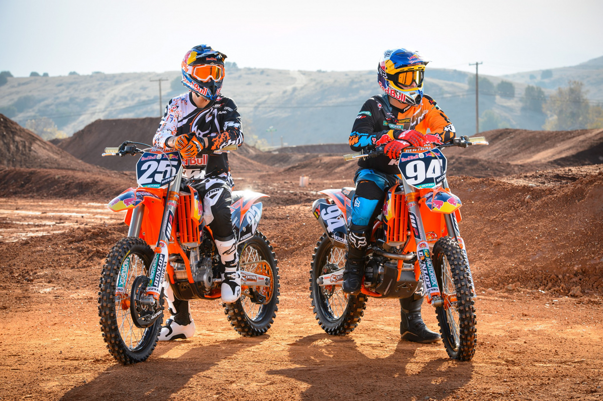 Marvin Musquin and Ken Roczen - 2013 Red Bull/KTM Team ...