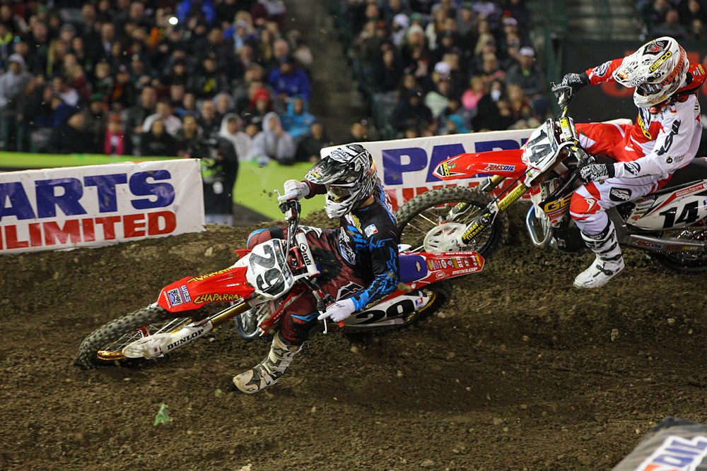 Andrew Short and Kevin Windham - Photo Blast: Anaheim 1 - Motocross Pictures - Vital MX