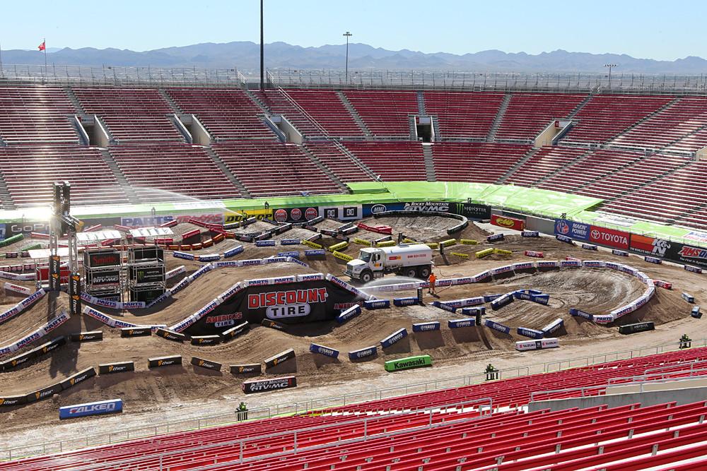 Sam Boyd Stadium - Las Vegas Monster Energy Supercross Press Day - Motocross Pictures - Vital MX