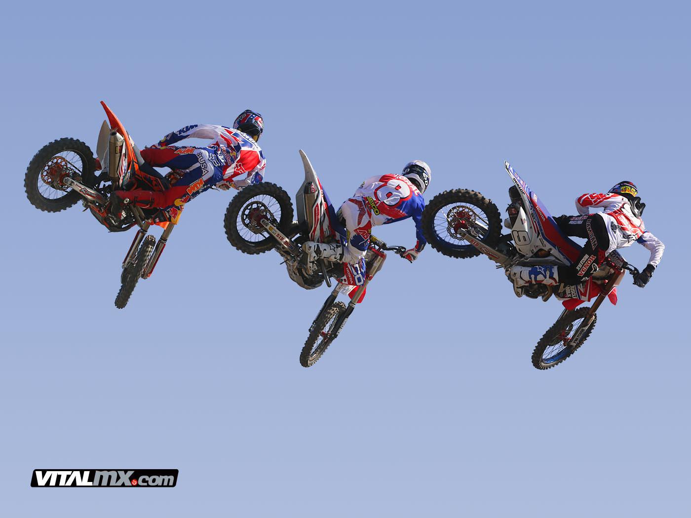 Team USA 2013: Ryan Dungey, Eli Tomac, and Justin Barcia - Team USA 2013 - Motocross Pictures - Vital MX
