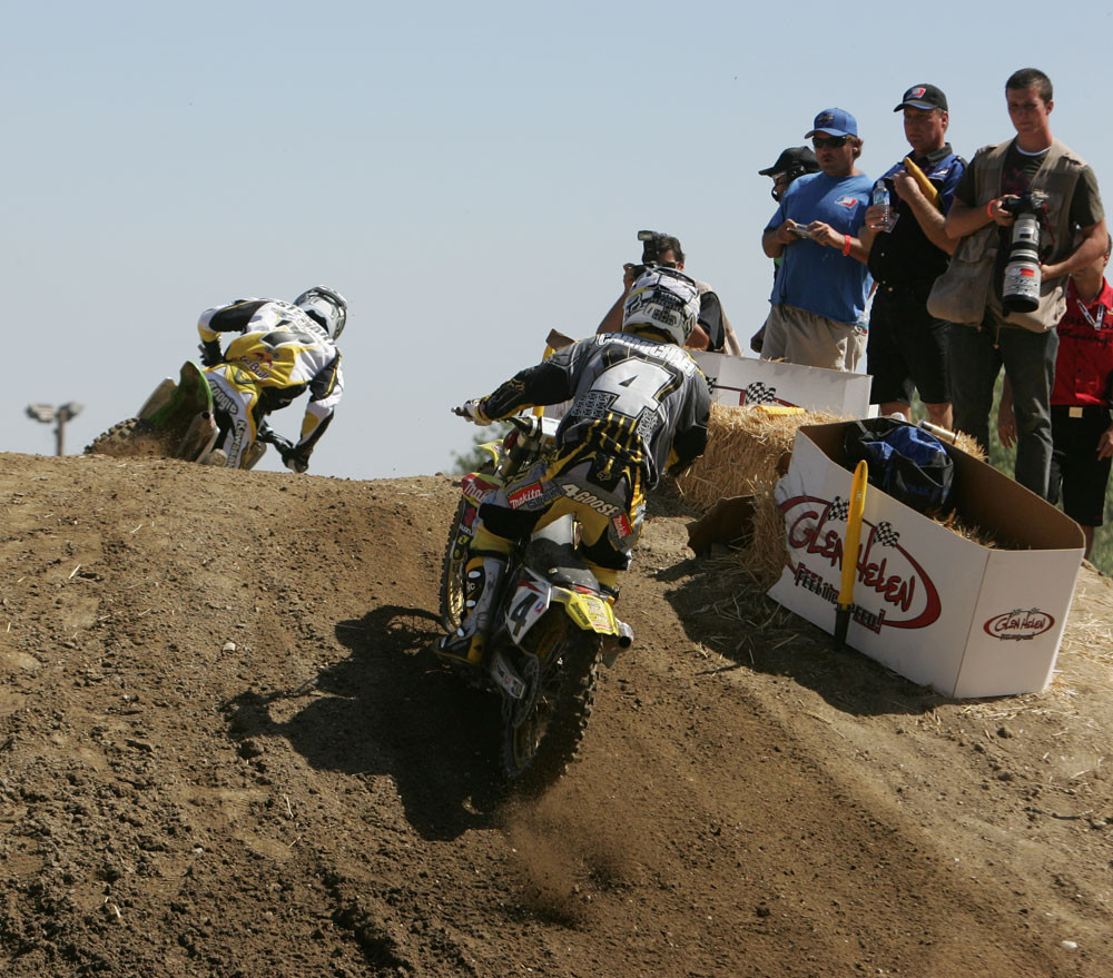 James Stewart and Ricky Carmichael - AMA Glen Helen '06 - Motocross Pictures - Vital MX
