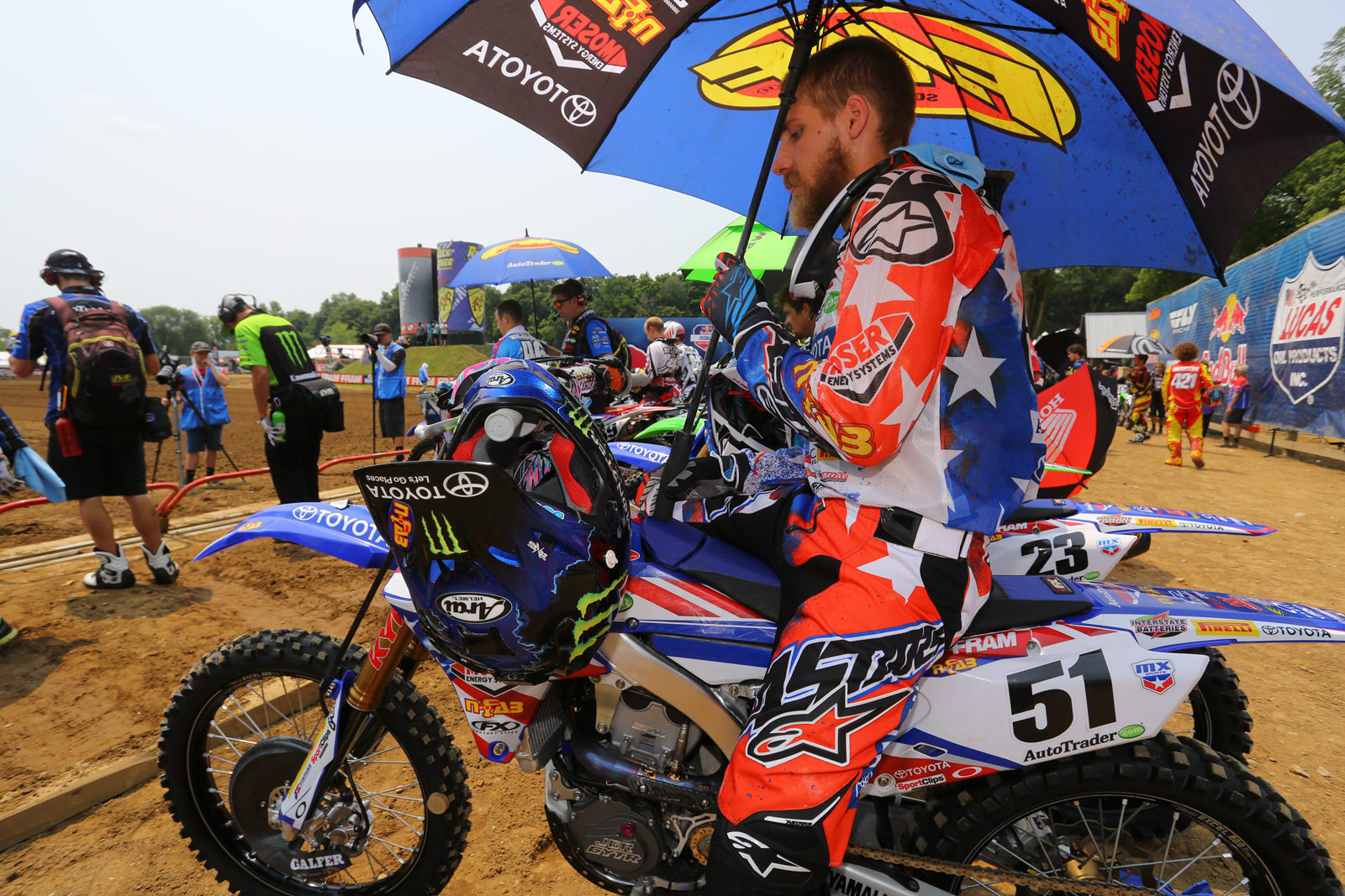 Red, white, and blue - Vital MX Pit Bits: RedBud - Motocross Pictures - Vital MX