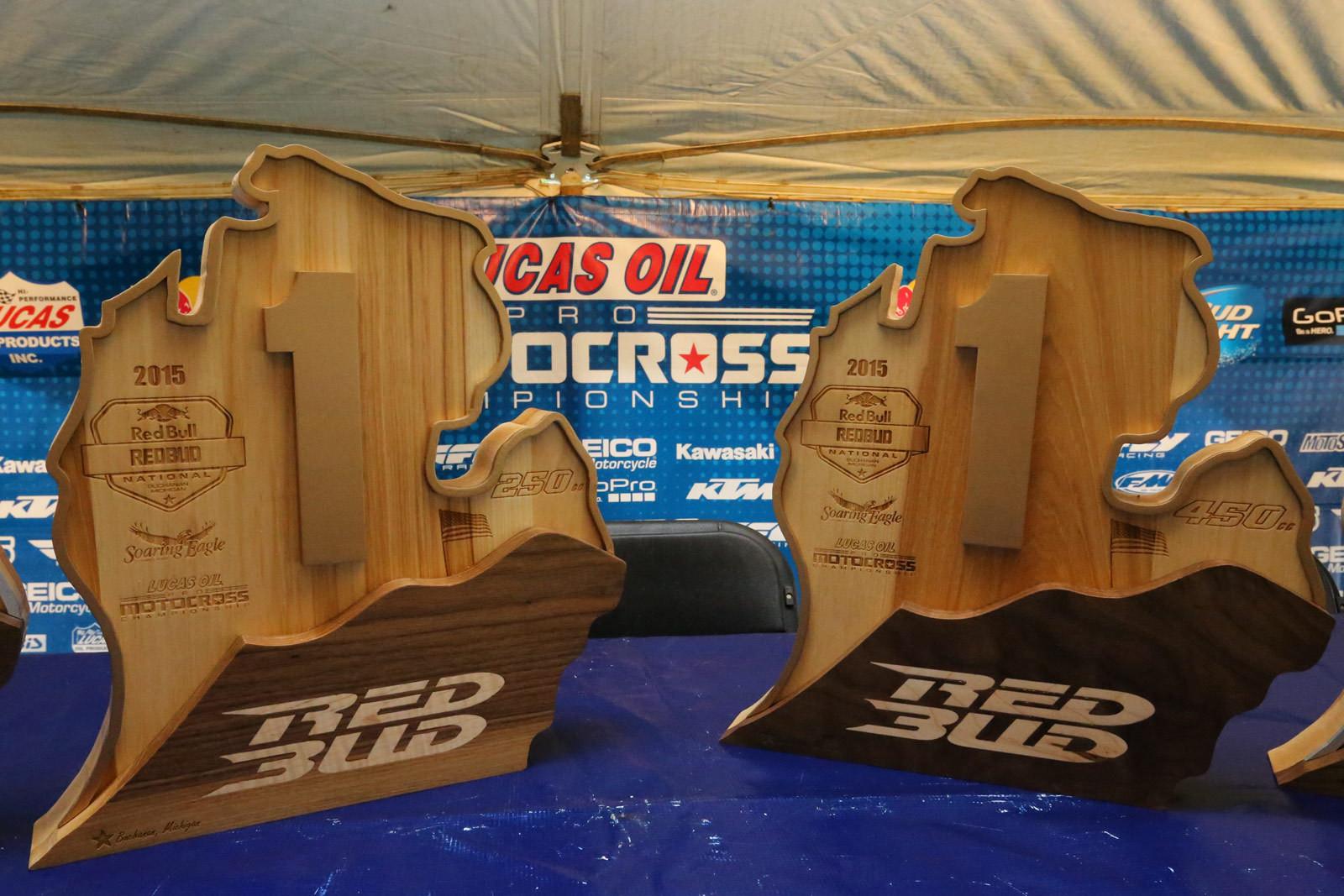 RedBud trophies - Vital MX Pit Bits: RedBud - Motocross Pictures - Vital MX
