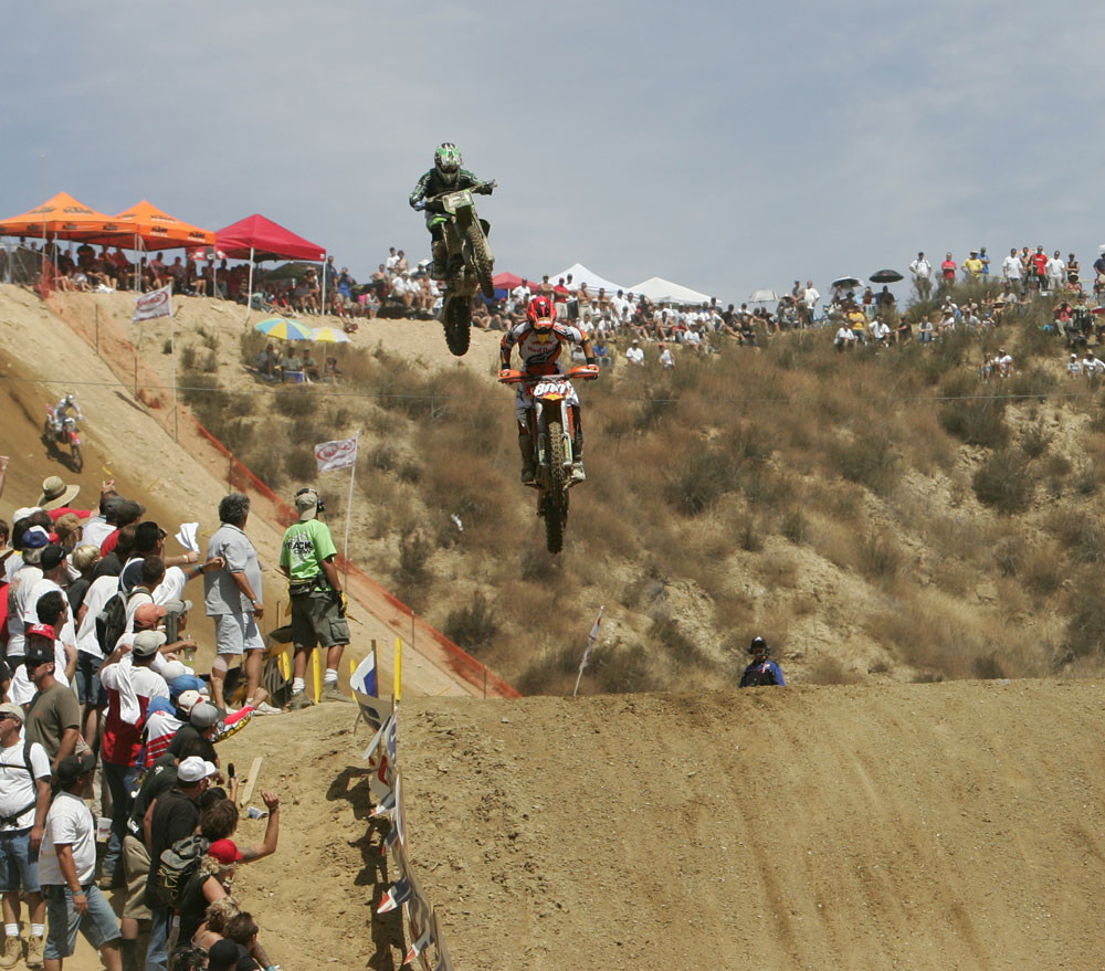Mike Alessi and Ryan Villopoto - AMA Glen Helen '06 - Motocross Pictures - Vital MX