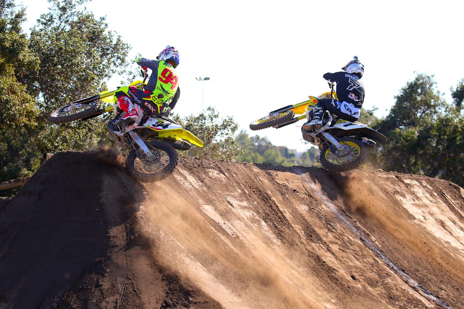 Ken Roczen and James Stewart - Photo Blast: Red Bull Straight Rhythm - Motocross Pictures - Vital MX