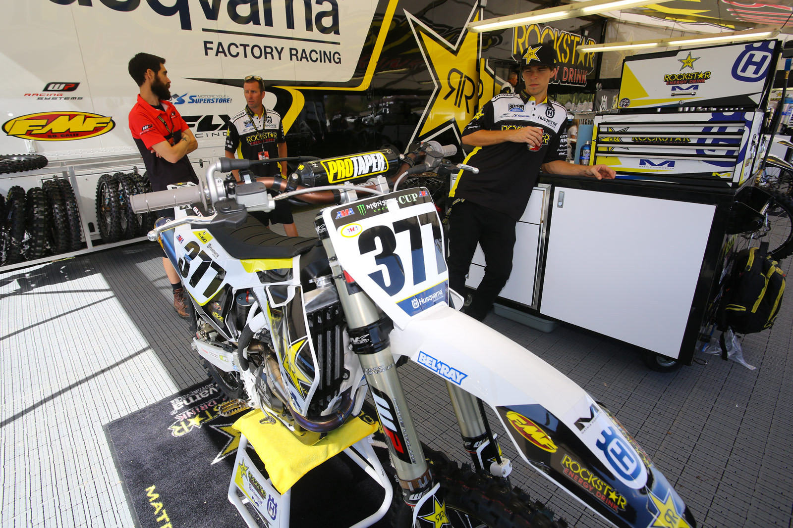Rockstar Energy Racing Husqvarna - Vital MX Pit Bits: Monster Energy Cup - Motocross Pictures - Vital MX