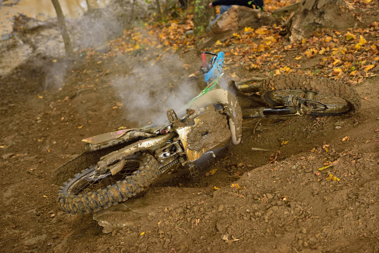 Man down - Photo Blast: Powerline Park GNCC - Motocross Pictures - Vital MX