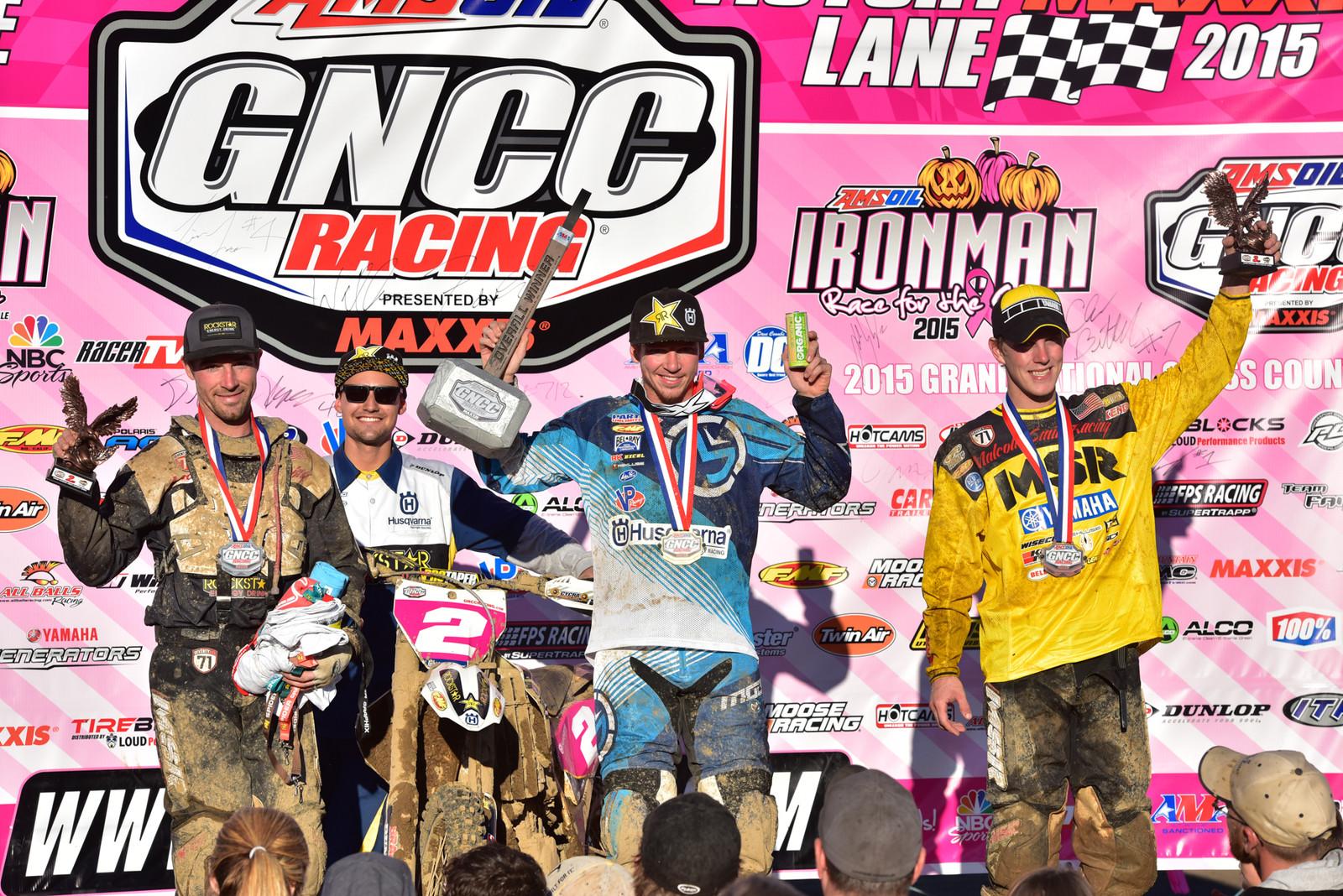 Josh Strang, Ryan Sipes, and Jordan Ashburn - Photo Blast: Ironman GNCC - Motocross Pictures - Vital MX